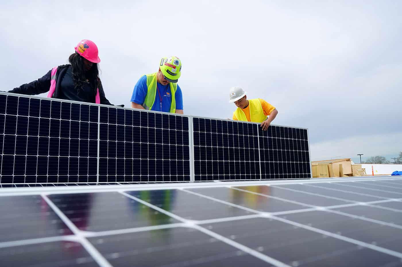 Solar Installation Team - Rethink Electric