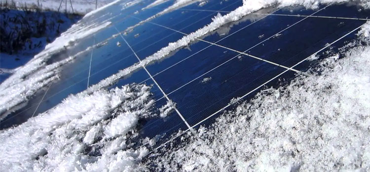 Snow and Solar Panel Efficiency - Rethink Electric