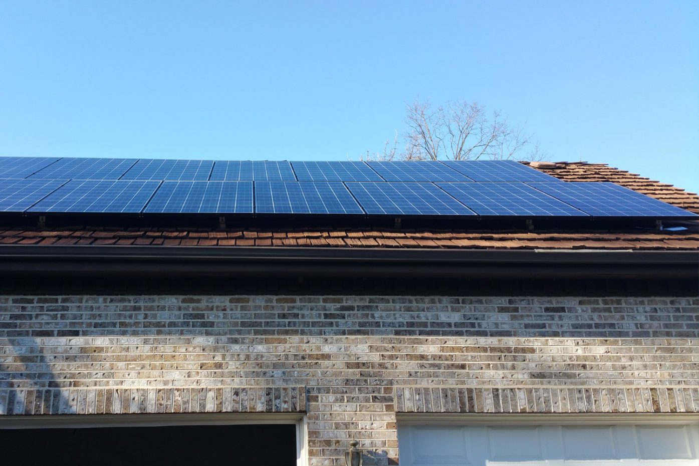 Solar Installation on Garage in Oak Brook, IL - Rethink Electric
