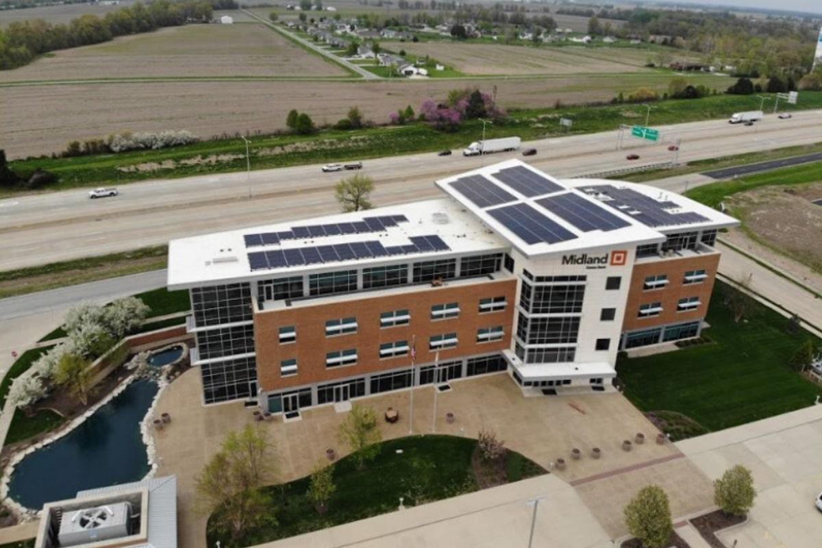 Midland States Banks Effingham Solar Install