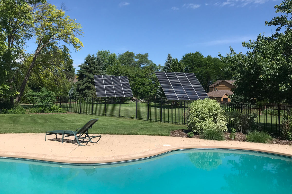 Residential Ground Mount Solar System in Winfield, IL