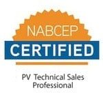 NABCEP Certified PV Technical Sales Professional